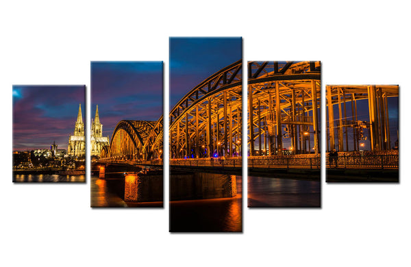 Cologne Cathedral, Germany - 5 piece Canvas - EpicKanvas