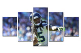 American Football Player  - 5 piece Canvas