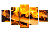 Fire Wood - 5 piece Canvas