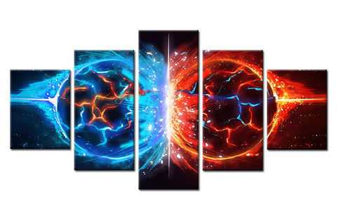 5Pcs Fire & Water Ball Spark Canvas For Home & Office Decor - EpicKanvas