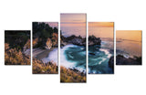 Natural Mountain and sea beach - 5 piece Canvas - EpicKanvas