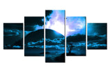 Natural sea and tree - 5 piece Canvas