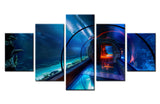 Framed 5 Piece Under Water Walkway - 5 piece Canvas - EpicKanvas