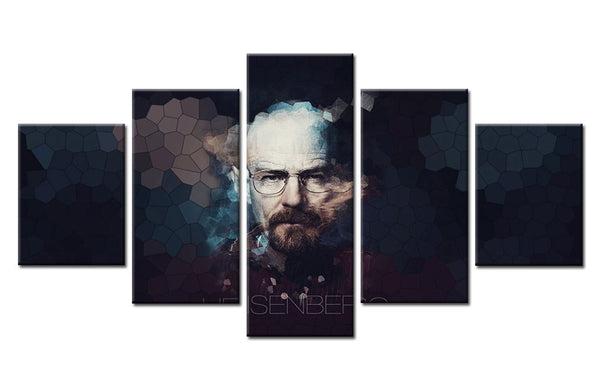 5Pcs Walter White (Breaking Bad) Canvas For Home & Office Decor - EpicKanvas
