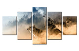 Winter mountain dog - 5 piece Canvas - EpicKanvas