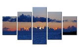Sunset Behind the Clouds - 5 piece Canvas - EpicKanvas