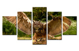 Natural forest in Owl - 5 piece Canvas - EpicKanvas