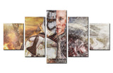 Movie heroine - 5 piece Canvas