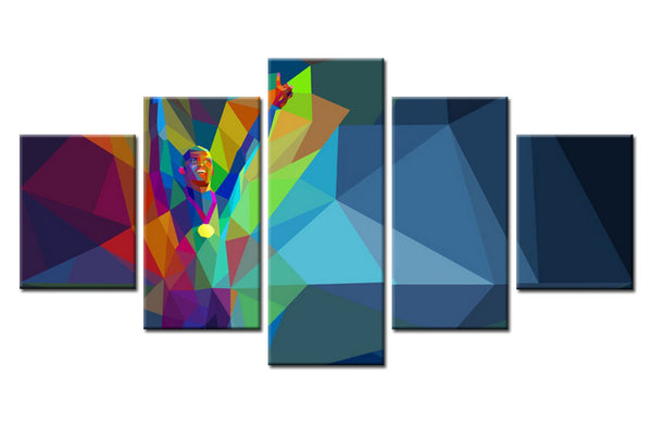 5Pcs Man in Olympic Medal Abstract Canvas Art For Home & Office Decor - EpicKanvas