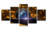 Camera Lens - 5 piece Canvas