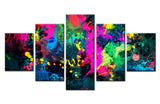 World Map Color painting - 5 piece Canvas