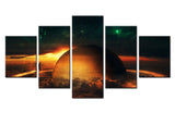 Earth & a Space - 5 piece Canvas