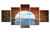 Natural sea beach - 5 piece Canvas