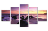 Natural Stone Sky and sea Beach - 5 piece Canvas
