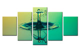 Water Drop - 5 piece Canvas