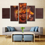 5 piece Many Colors Psychedelic Lion Canvas Art For Home & Office Decor - EpicKanvas