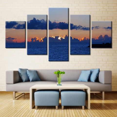 Sunset Behind the Clouds - 5 piece Canvas
