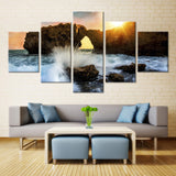 Natural Mountain Sky and sea - 5 piece Canvas