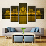 Hungarian Parliament Building - 5 piece Canvas