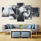 Arnold Schwarzenegger Exercising Bodybuilding Motivation - 5 piece Canvas