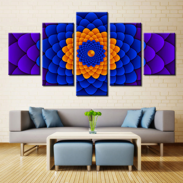 Circle of Flower - 5 piece Canvas - EpicKanvas