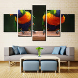 Family of Parrot - 5 piece Canvas