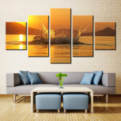 Mountain Sea and sky - 5 piece Canvas
