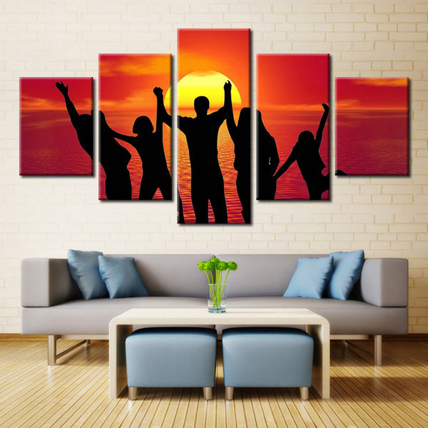 Man Sun Water - 5 piece Canvas