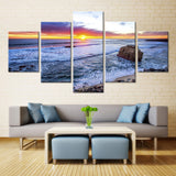Natural stone and sea - 5 piece Canvas - EpicKanvas