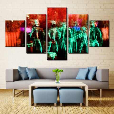 Colorful Human painting - 5 piece Canvas