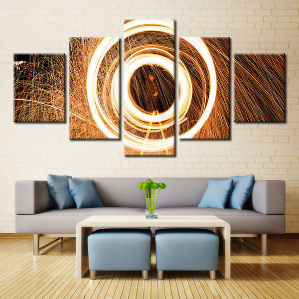 Round Lighting Flashing  - 5 piece Canvas