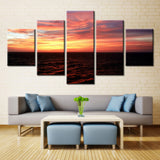 Evening sea - 5 piece Canvas - EpicKanvas