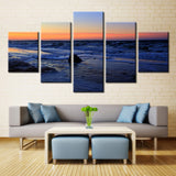 Evening sea beach - 5 piece Canvas