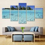 Natural sky Tree and fish - 5 piece Canvas - EpicKanvas