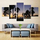 Natural sky and Tree - 5 piece Canvas