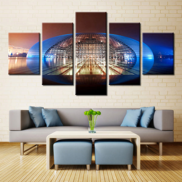 Dome Shape Architecture  - 5 piece Canvas