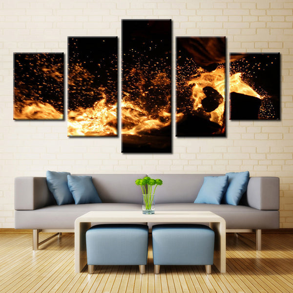 Burning Coal - 5 piece Canvas