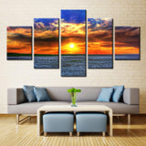 Sun Water and Sky - 5 piece Canvas