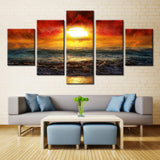Sun Over the Red Clouds - 5 piece Canvas