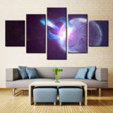Space planet - 5 piece Canvas