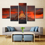 Natural mountain - 5 piece Canvas - EpicKanvas
