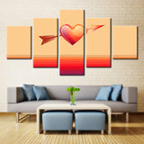 5 piece Love With Arrow Canvas For Home & Office Wall Decor