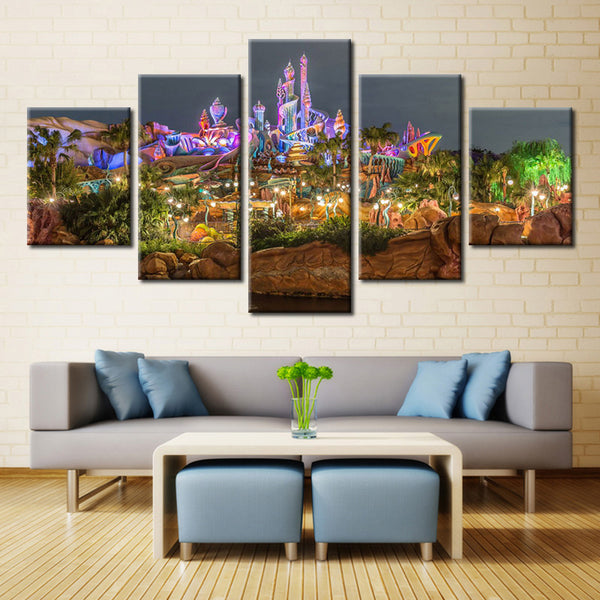 Lighting park - 5 piece Canvas