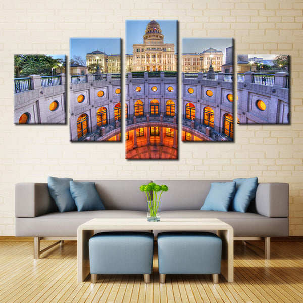 Texas State Capitol - 5 piece Canvas