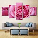 Pink Rose  - 5 piece Canvas