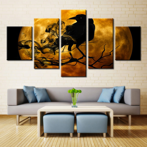 Horror crow - 5 piece Canvas - EpicKanvas