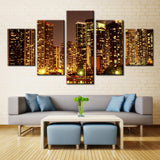Downtown City Highrise View - 5 piece Canvas