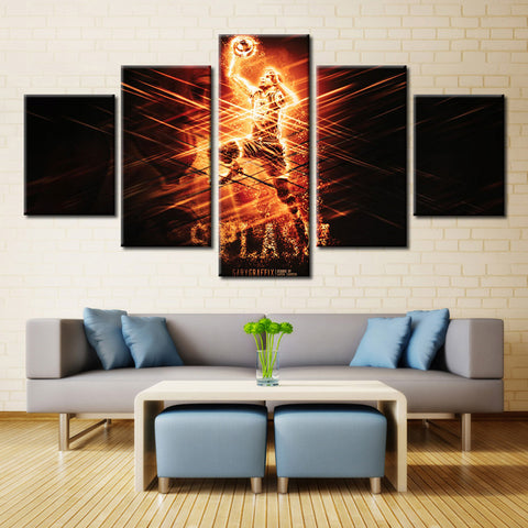 Basketball Player Painting - 5 piece Canvas