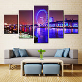 Lighting water - 5 piece Canvas - EpicKanvas