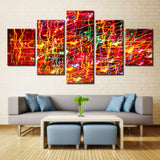 Lighting art - 5 piece Canvas